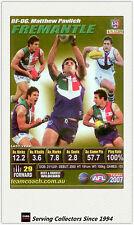 2007 AFL Teamcoach Trading Card GOLD Best & Fairest BF6 Matthew Pavlich