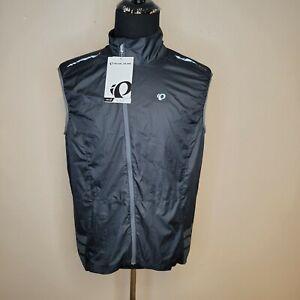 New Pearl Izumi Elite Mens XL Black Barrier Vest Cycling Full Zip FREE SHIPPING