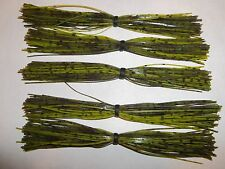 FIVE (5) SILICONE SKIRTS   ** SUMMER CRAW DAMATION SPECIAL **  55+ STRANDS
