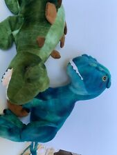 Dan Dee Dinosaur Set Lot T Rex Stegasaurus Small Flaw Plush 22� Large