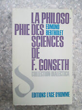 BERTHOLET, La philosophie des sciences de Ferdinand Gonseth