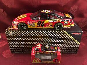 BILL ELLIOTT 2000 #94 McDonalds DT 1/24 Elite HO Car & 1/64 HO Car Diecast  SET