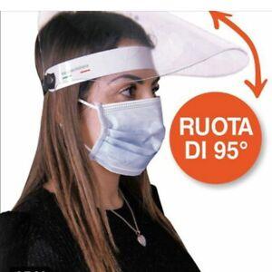 VISIERA PROTETTIVA DPI IN POLICARBONATO TRASPARENTE REGOLABILE MADE IN ITALY
