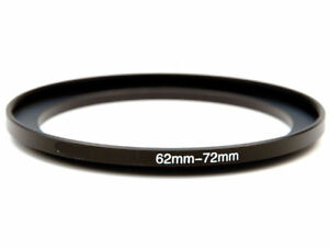 62-72mm Metal Step Up Ring Lens Adapter from 62 to 72mm Filter Thread UK SELLER