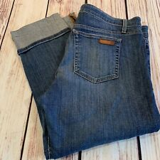 Joe's jeans Raley cropped cuff capri size 32 medium wash