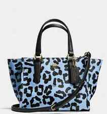 NWT COACH CROSBY mini carryall in ocelot print crossgrain leather 34334 $350