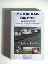MOTORFILMS QUARTERLY - Volume Eleven - DVD OOP - 1938 Donington Grand Prix