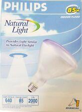 Lot of 6 PHILIPS 85 WATT BR40 NATURAL LIGHT bulbs flood incandescent daylight