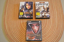 PC Game Lot - Guild Wars Factions, Heroes V, Guild Wars Nightfall