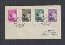 BELGIUM 1937 QUEEN ASTRIS & PRINCE FIRST DAY COVER BRUSSLS TO LIVERPOOL UK