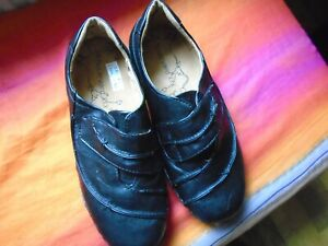 Black casual shoes size UK5EEE from Boulevard man-made no leather BNWB