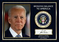 Joe Biden - US President -  ORIGINAL A4 Signed PHOTO PRINT MEMORABILIA