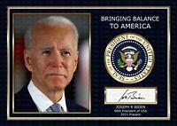 Joe Biden - US President - ORIGINAL A4 Signed PHOTO PRINT MEMORABILIA