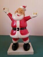 Vintage Hard PLASTIC SANTA E. Rosen Rosbro1950's Christmas MCM Light Up