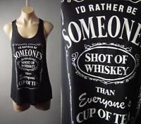 Black Alcohol Whiskey Sassy Funny Graphic Racer Back Tank Top 189 mv Shirt S M L