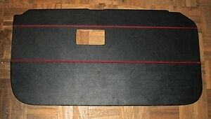 PAIR - MG MGB MKII TOURER DOOR LINER 1968 > 1969 BLACK WITH RED PIPING