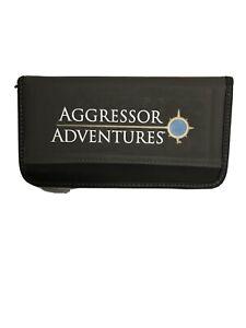 Aggressor Adventures Travel Case Wallet Zip Around ID, Passport & Card Holder