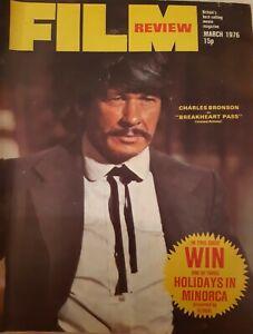 Film Review magazine March 1976 Charles Bronson, Jack Nicholson, Deborah Raffin