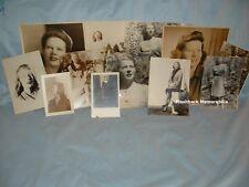 (12) 1940s PHOTOGRAPHS Young Lady MODELING PORTRAITS Sepia B&W Portfolio AGENCY
