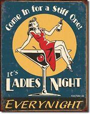Ladies Night Every Night Martini Bar Metal Sign Tin New Vintage Style USA #1298