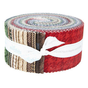 "Jelly Roll Rolie Polie 2.5"" Strips 40pc Riley Blake All About Plaids"