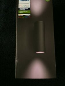 Philips Hue White and Colour Ambiance Appear LED Outdoor Wall Light-Black