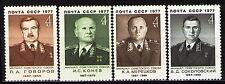 Russia 1977 Sc4545-8 Mi4575,98-600 1.2 MiEu 4v mnh Marshals of the Soviet Union