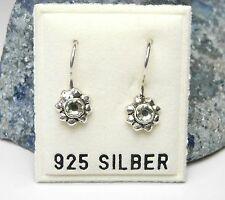 NEU 925 Silber OHRHÄNGER Blüten STRASSSTEINE crysolite/grün/hellgrün OHRRINGE