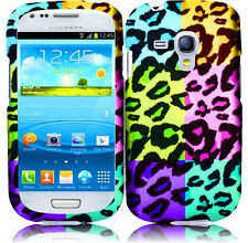 AT&T Samsung Galaxy S3 MINI i8190 Rubberized HARD Phone Case Colorful Leopard