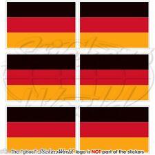 ALLEMAGNE Allemand Deutschland Drapeau 40mm Mobile Téléphone Mini Autocollant x6