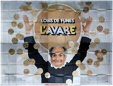 L'AVARE Affiche Cinéma GEANTE / WIDE Movie Poster LOUIS DE FUNES