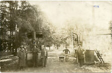 RPPC NY Horseheads Steam Roller Workers Street Scene
