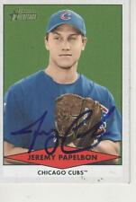 JEREMY PAPELBON SIGNED 2007 BOWMAN HERITAGE #BHP83 - CHICAGO CUBS