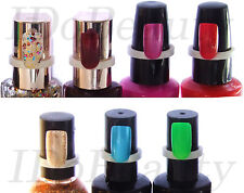50 Display Ring Nail Polish Bottle Top salon Natural colour chart tool Clip On