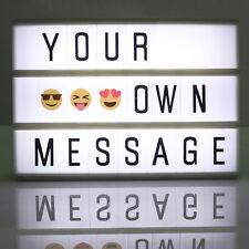 A6 Luz cine cinematográfica letra Caja Signo Caja de luz tablón de anuncios de Bricolaje Fiesta