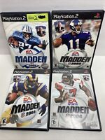 4 PlayStation 2 PS2 Madden FOOTBALL Games LOT SET 2001 2002 2003 2005
