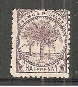 Album Treasures Samoa Scott # 9d  1/2p Palm Trees  Mint NG