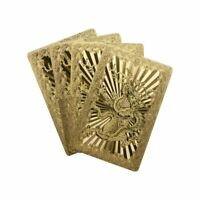 24K Gold Foil Poker Playing Cards Waterproof with Gift Box for Party Game