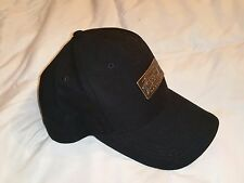 Caterpillar Cyrk Hat Black Adult One Size with Metal Plate