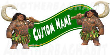 Maui-Moana Clubhouse Room Decor -  Wall Decal Removable Sticker CUSTOM NAME