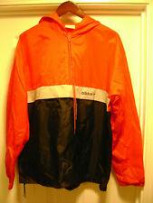 Vintage Adidas Jacket Windbreaker - Size Large - Hooded - Red And Black