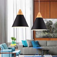 Black Ceiling Lights Kitchen Modern Pendant Light Bedroom Lamp Bar Wood Lighting