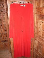 UNITS Red Long Open Jacket Top Size Large 95% Acetate/5% Spandex
