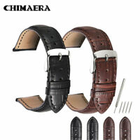 18mm/19mm/20mm/21mm/22mm/24mm Calf Leather Strap Alligator Grain Watch Band
