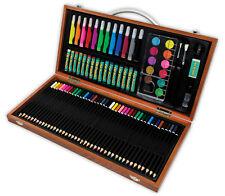 ARTE per bambini avventura Gift Set 89 PEZZI scatola in legno Vernice Pastello Matita AVS541