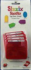 SIZZIX SIZZLITS TAG SET SMALL 4 DIES CRESCENT TRADITIONAL SCALLOP OVAL 38-9614