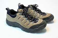 Vintage REEBOK Men's Hiking Shoes Low Boots Brown Suede Black RARE Size 8.5