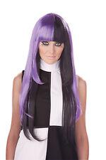 Adult Long Black/ Purple 60s 70s A La Mod Disco Go Go Costume Wig