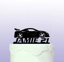 Car - Drifting - Sportscar Personalised Cake Topper