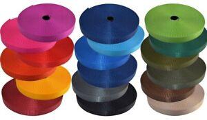 25m 10mm PA-Gurtband 2,2mm dick 19 Farben